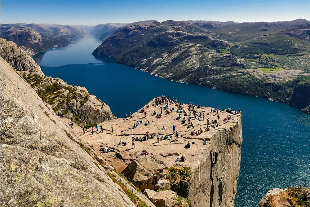 Der Preikestolen, Felskanzel über dem Lysefjord, Norwegen