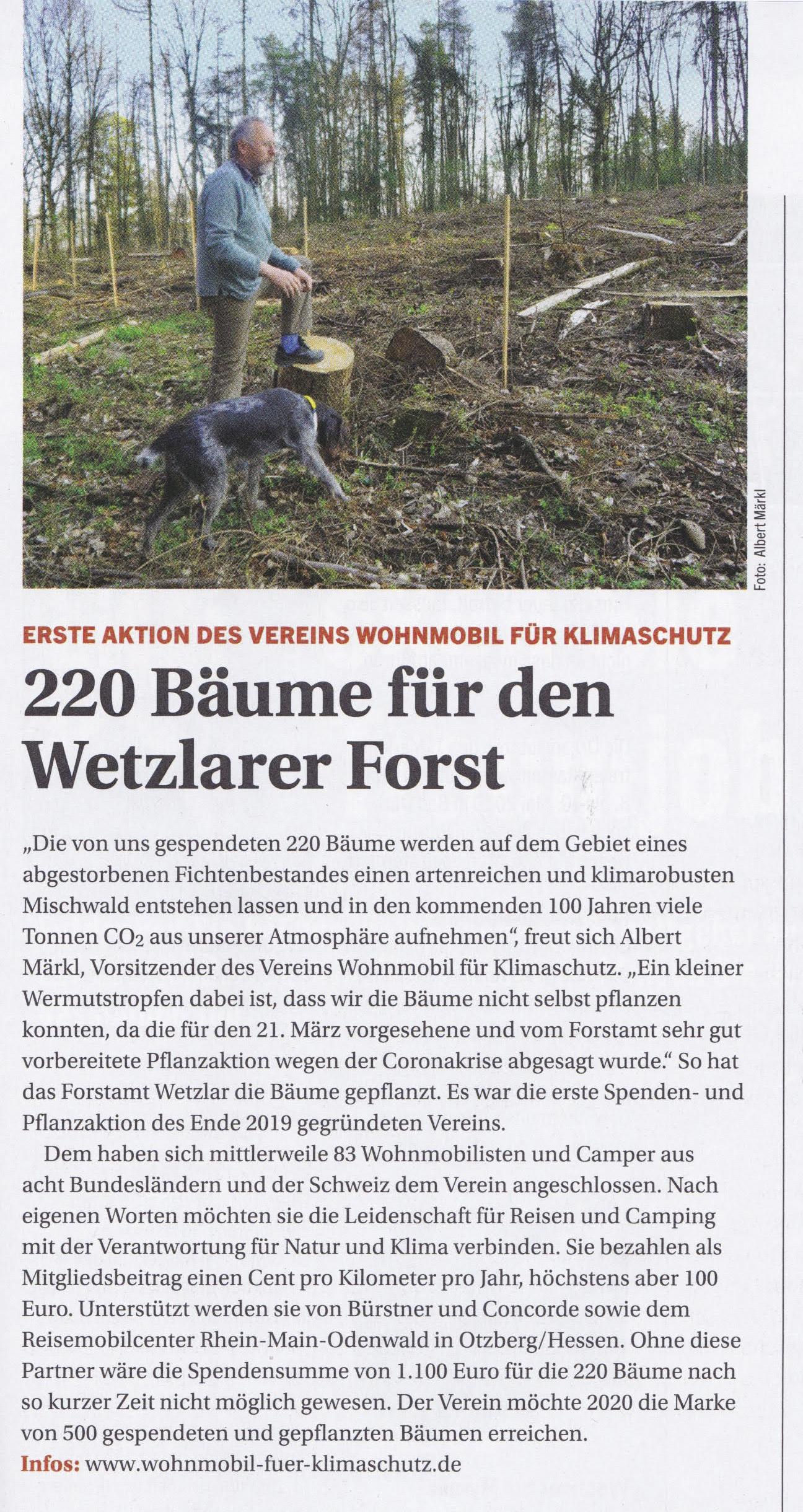 WOHNmobil für Klimaschutz Aktion im Wetzlarer Wald