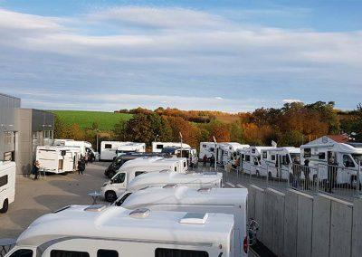 Große Reisemobil-Auswahl bei bestem Messe-Wetter