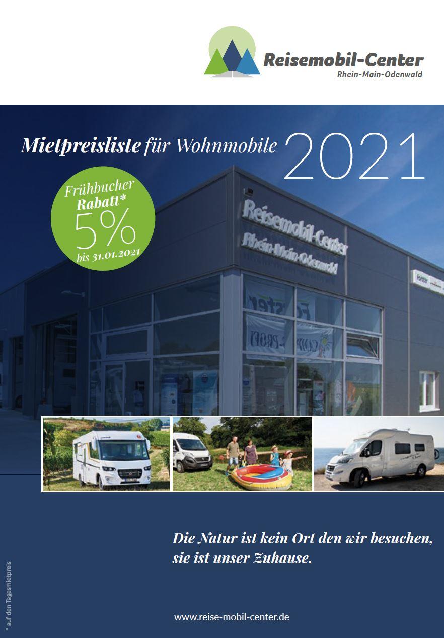 Mietpreise für Wohnmobile 2021